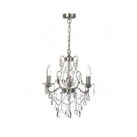 WF-31449-CHR Annalee 3 Light Bathroom Ceiling Chandelier in Polished Chrome Finish