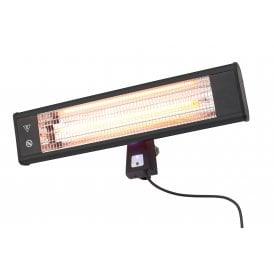ZR-32298 Blaze Infrared Medium Wall Mounted Patio Heater In Black Finish