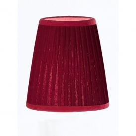 1110 Burgundy Coloured Pleated Slim Candle Clip Shade