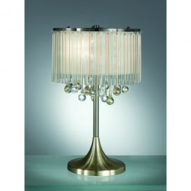 Ambience 3 Light Table Lamp in Bronze And Clear Crystal Glass Finish