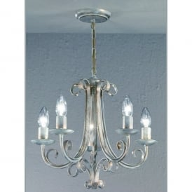 Babylon 5 Light Ceiling Fitting in White Brushed Gold