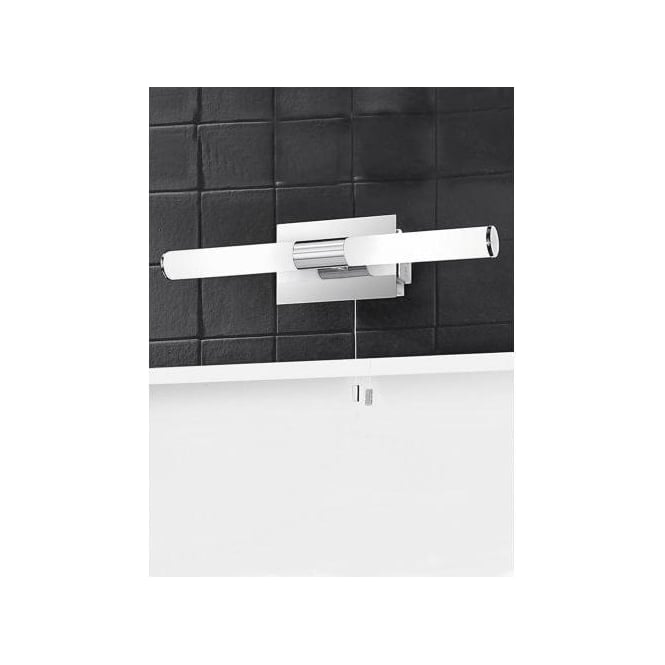 Franklite Bathroom 2 Light Halogen Switched Wall Fitting with Shaver Socket