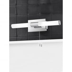 Bathroom 2 Light Halogen Switched Wall Fitting with Shaver Socket