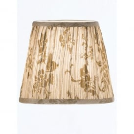 Beige Pleated Candle Shade with Hidden Floral Design