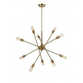 Centrix 10 Light Multi Arm Ceiling Fitting in Matt Gold Finish