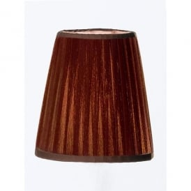 Coffee Coloured Pleated Slim Candle Clip Shade