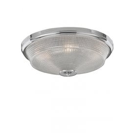 Concept 3 Light Flush Ceiling Fitting In Polished Chrome Finish