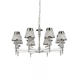 Concept 8 Light Ceiling Pendant In Polished Chrome Finish