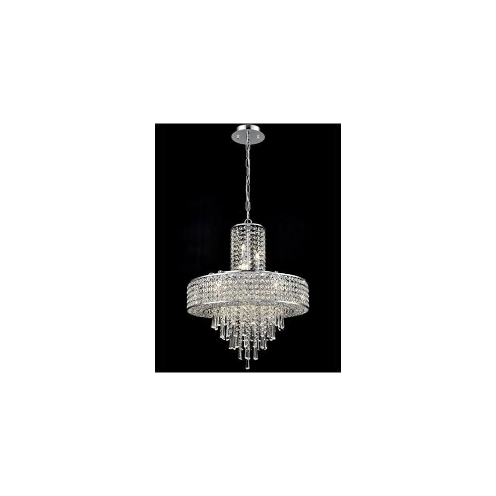 Franklite Fl2382 12 Duchess 12 Light Pendant Fitting: Franklite Duchess 12 Light Ceiling Pendant In Polished