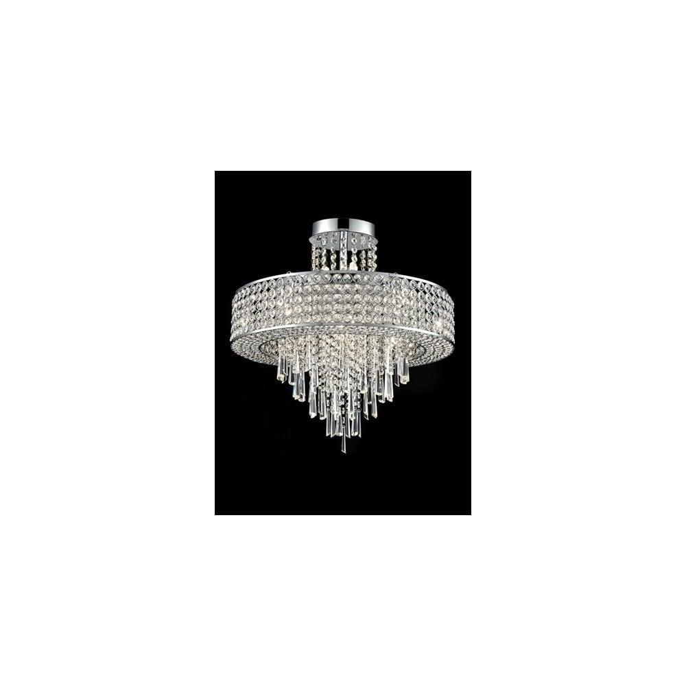 Franklite Fl2382 12 Duchess 12 Light Pendant Fitting: Franklite Duchess 12 Light Semi Flush Ceiling Fitting In