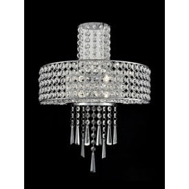 Duchess 4 Light Wall Fitting In Polished Chrome And Clear Crystal Decoration