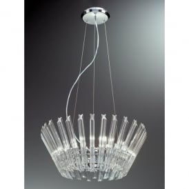 Imagine 9 Light Halogen Crystal Ceiling Pendant