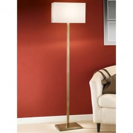 Modern Single Light Floor Lamp in a Bronze Finish Complete with Shade