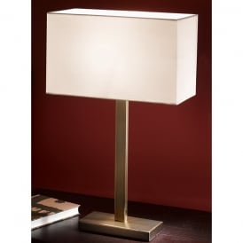 Modern Single Light Table Lamp In A Bronze Finish Complete With Shade