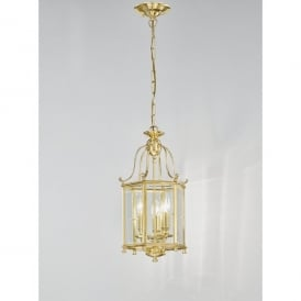 Montpelier 3 Light Cast Brass Ceiling Lantern in Polished Brass Finish