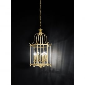 Montpelier 6 Light Cast Brass Ceiling Lantern in Polished Brass Finish