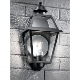 Nerezza Single Light Flush Outdoor Wall Fitting In Dark Grey Finish With Clear Acrylic Diffuser