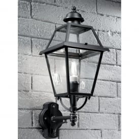 Nerezza Single Light Outdoor Wall Fitting In Dark Grey Finish With Clear Acrylic Diffuser