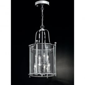 Pasillo 8 Light Indoor Lantern with a Polished Chrome Finish