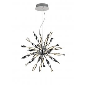 PCH183 Supernova LED Medium Ceiling Pendant in Polished Chrome Finish