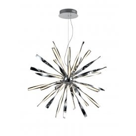 PCH184 Supernova LED Large Ceiling Pendant in Polished Chrome Finish