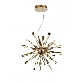 PCH185 Supernova LED Medium Ceiling Pendant in Gold Finish