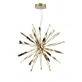 PCH186 Supernova LED Large Ceiling Pendant in Gold Finish