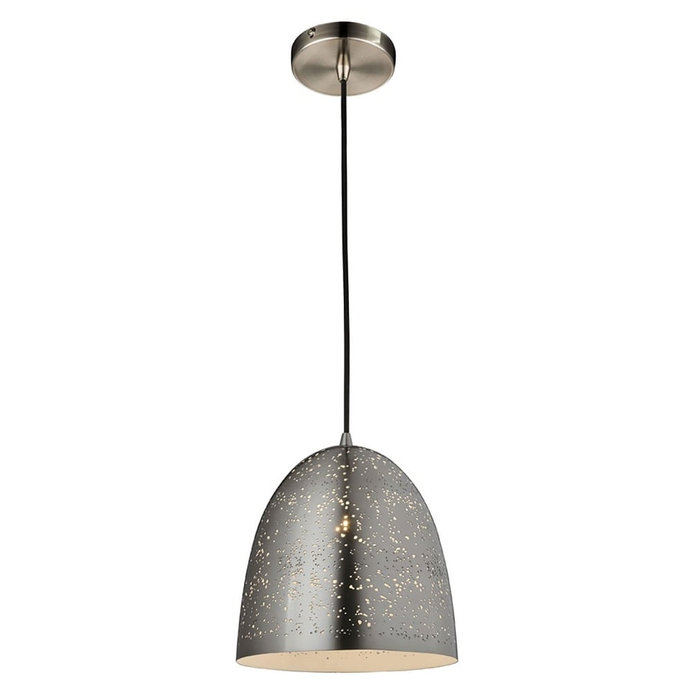 Types Of Ceiling Lights: Franklite Perfora Single Light Small Dome Ceiling Pendant