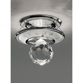 RF242 Crystal & Polished Chrome Recessed Downlight