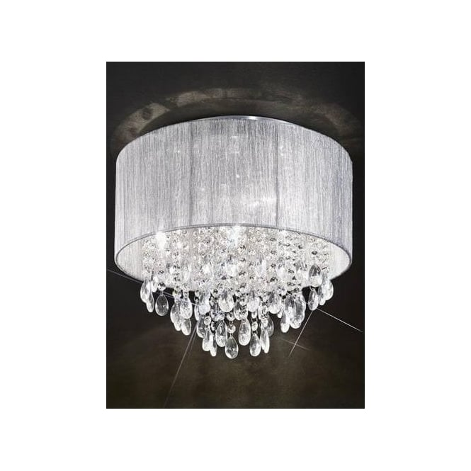 Franklite royale 4 light semi flush ceiling fitting with silver royale 4 light semi flush ceiling fitting with silver shade aloadofball Images