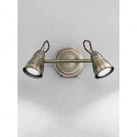 Rustica 2 Light Switched LED Wall Spotlight