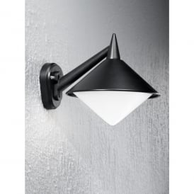 Sera Single Light Wall Fitting In Matt Black Finish With Opal Acrylic Diffuser