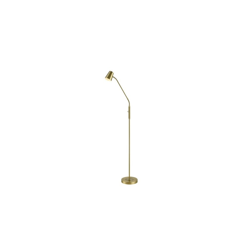 Franklite single light flex arm floor lamp in matt gold finish product code sl233
