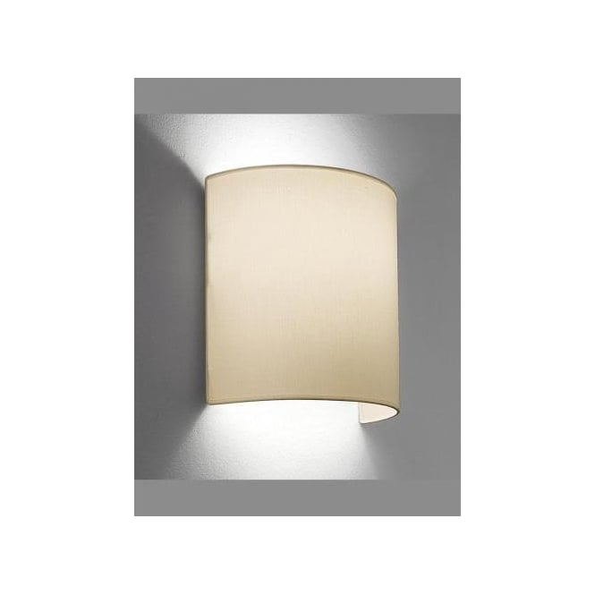huge selection of 8e289 c3432 Franklite Single Light Half Cylindrical Cream Shade with Concealed Wall  Bracket