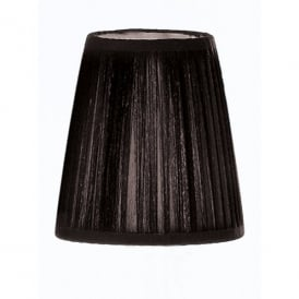 Slim Black Pleated Candle Clip Shade