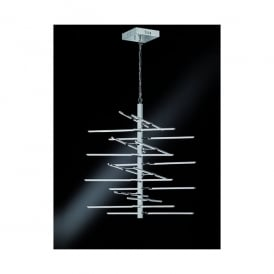 Styx 16 Light LED Ceiling Pendant In Polished Chrome Finish