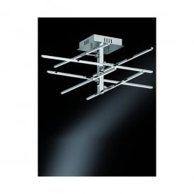 Styx 6 Light LED Flush Ceiling Fitting In Polished Chrome Finish