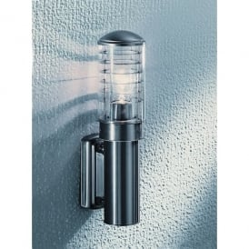 Terran Single Light Outdoor Wall Fitting In Stainless Steel Finish With Clear Acrylic Diffuser.