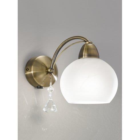 Franklite Glass Globe Wall Light
