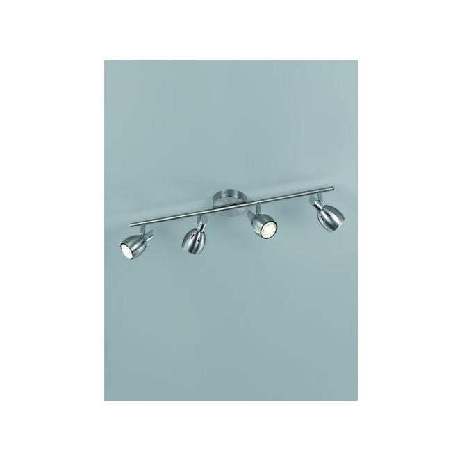 Tivoli 4 Light LED Ceiling Spot Fitting In Satin Nickel Finish
