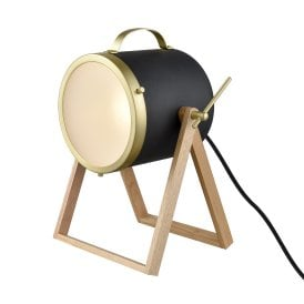 TL513 Single Light Industrial Table Lamp in Black Finish