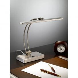 TL892 2 Light LED Table Lamp In Satin Nickel Finish
