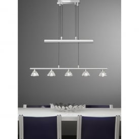 Twista 5 Light Rise and Fall Ceiling Pendant