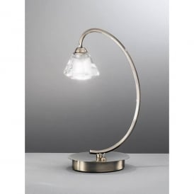 Twista Single Light Table Lamp in Bronze Finish with Crystal Glass