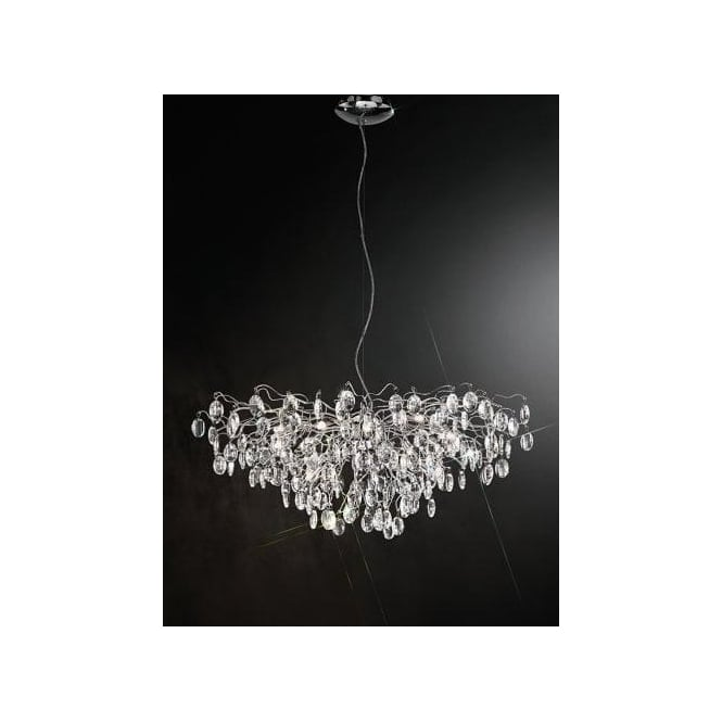 Wisteria 15 Light LED Crystal Ceiling Pendant  sc 1 st  Castlegate Lights & Franklite Wisteria 15 Light LED Crystal Ceiling Pendant | Castlegate ...