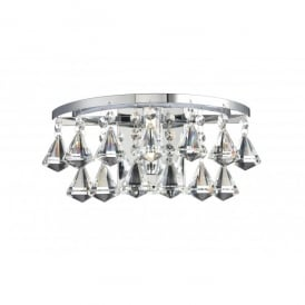 Fringe Single Light Crystal Wall Fixture in a Polished Chrome Finish