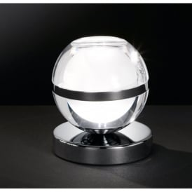Fulton/Serie 740 Single LED Table Lamp in Polished Chrome Finish with Glass Shade