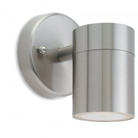Fusion Single Outdoor Wall Light in Stainless Steel Finish