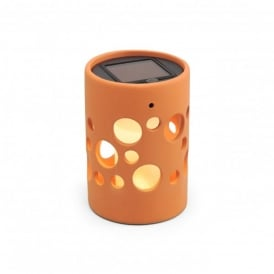 Genova Solar Outdoor LED Table Lamp With Terracotta Finish