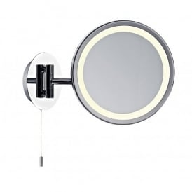 Gibson Low Energy Single Light Switched Bathroom Mirror in Polished Chrome